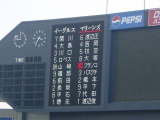 3番サード初芝!4番センター大塚!